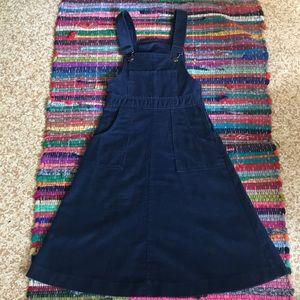 Gap navy blue corduroy overalls dress size xxs